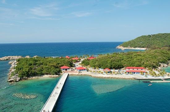 Blick vom Balkon auf Labadee/Haiti